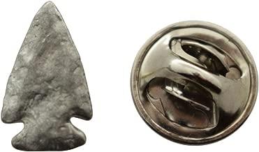 Sarah's Treats & Treasures Arrowhead Mini Pin ~ Antiqued Pewter ~ Miniature Lapel Pin