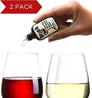 Drop It Wine Drops, 2 Pack - Natural Wine Sulfite Remover and Tannin Remover - Drop the Wine Headache, Enjoy Your Wine - Portable and Discrete - A Wine Filter or Wine Wand Alternative