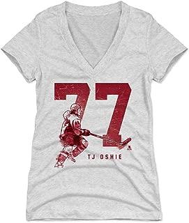 500 LEVEL T.J. Oshie Women's Shirt - Washington Hockey Shirt for Women - T.J. Oshie Grunge