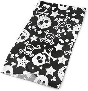 57280e689e72 Headband Black White Skull Outdoor Scarf Mask Neck Gaiter Head Wrap  Sweatband Sports Headwear