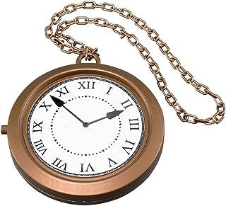 Forum Novelties-BA1019 Bristol Novelty Ba1019Médaillon avec Horloge XL de Déguisement, taille unique, Adulte Unisexe, Mul...