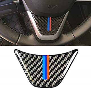 JMY Future Carbon Fiber Steering Wheel Sticker M Stripe Emblem 3D Car Sticker for BMW F48 1 Series 2016-2018 2 Series X1