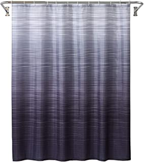 YOSTEV Black Ombre Bathroom Fabric Shower Curtain with Hooks,Decorative Bathroom Accessories,Water Proof,Reinforced Metal Grommets 72x72 inches