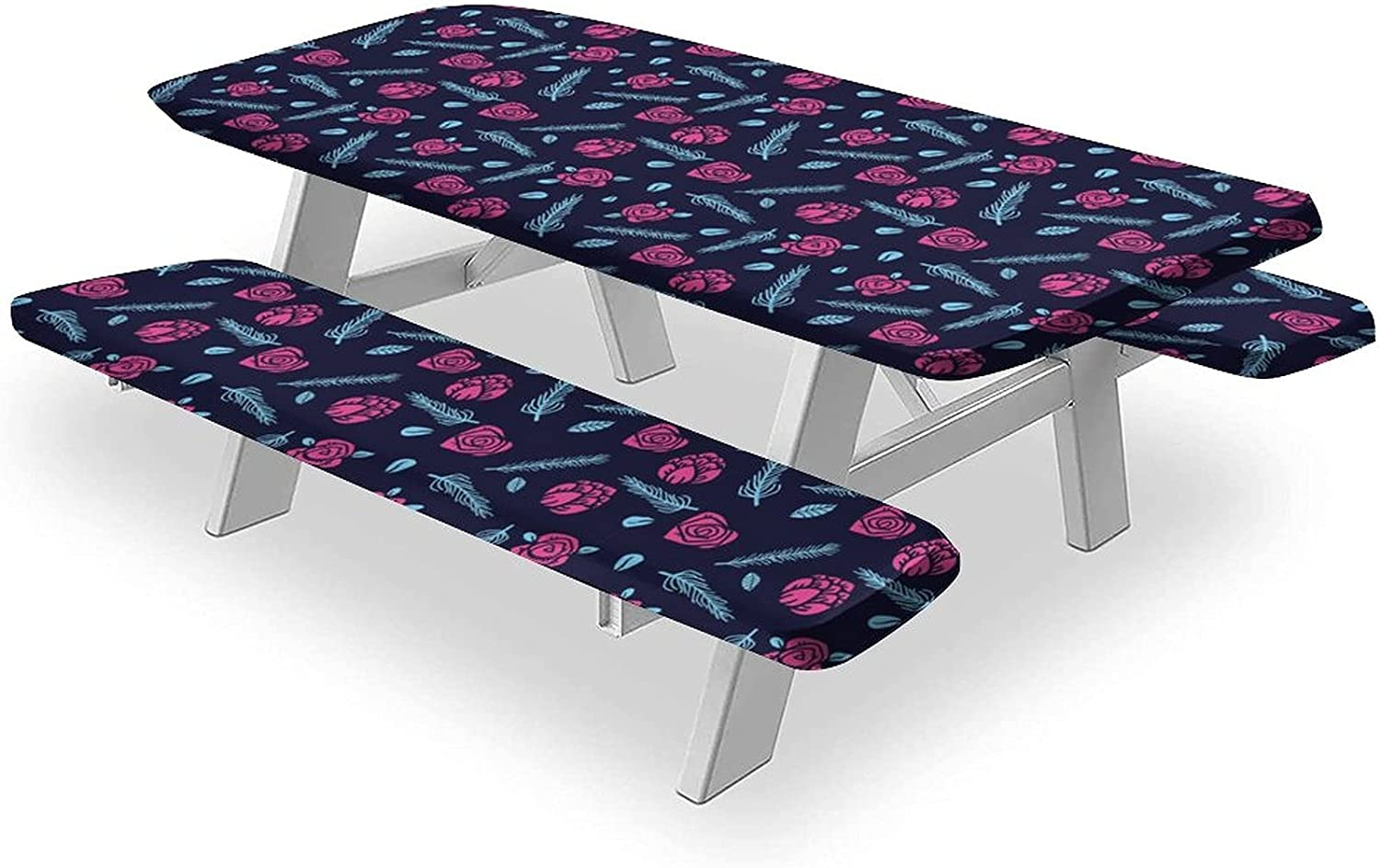 Memphis Tablecloths 3PCS Max 57% OFF Picnic Table Fl Bench and Cover High quality