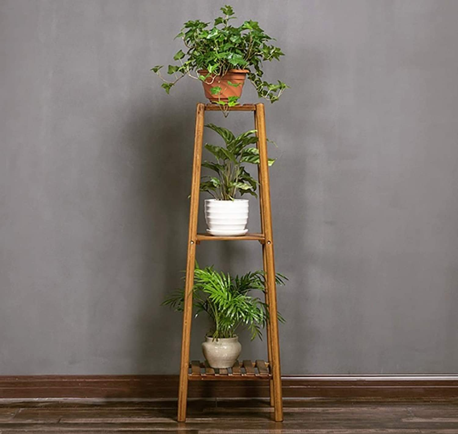 Plant Rack Flower Stand, Solid Wood Multi-Layer Floor-Standing Combination Frame, Living Room Balcony Indoor and Outdoor Multi-Purpose Rack Flower Stand