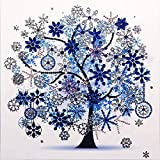 Special Shaped Diamond Art Kits Diamond Embroidery Paintings Wall Art Big Canvas Full Drill (12X12inch/30X30CM) (Winter Tree)