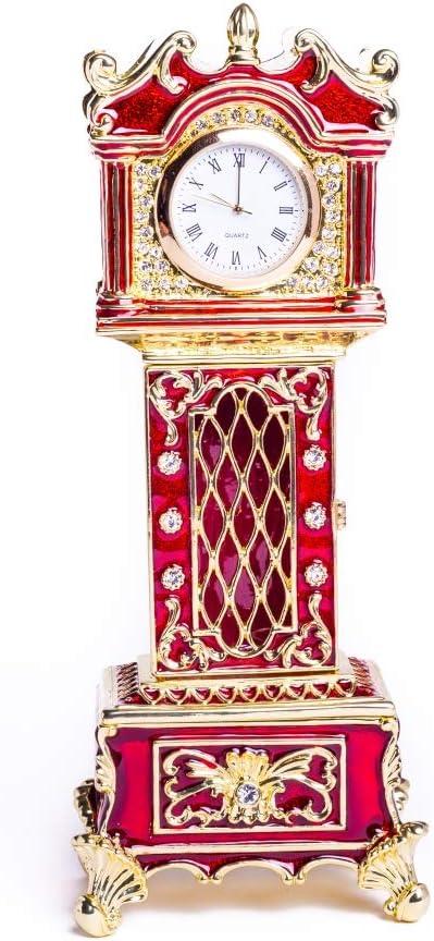 Keren Kopal Red Big Limited time cheap sale Ben Clock Box Storag Trinket Jewelry Vintage Phoenix Mall