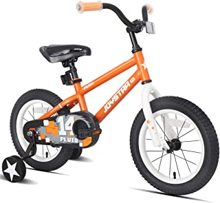 JOYSTAR Kids Bike with Training Wheels for 12 14 16 inch Bike, Kickstand for 18 inch Bike (Blue Beige Red Orange Pink Green)