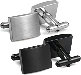 Stainless Steel Classic Cufflinks for Men Wedding Business
