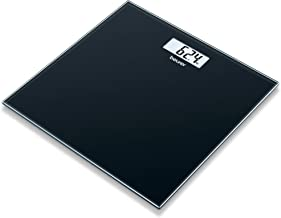Beurer 756.21 GS10 Digital Glass Bathroom Scale with Easy to Read Display (Black)