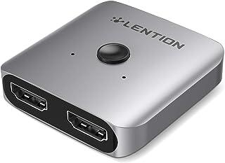 LENTION 2 x 1/1 x 2 Bi-Directional 4K/60Hz Aluminum HDMI Switcher, No External Power Required Compatible Windows, Mac, Chr...