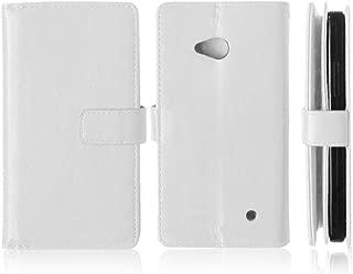 Lumia 640 Case,Lumia 640 LTE Case,XYX [Kickstand] Lumia 640 White Case,[Built-in 9 Credit Card Slots][Flip][Wallet Feature] Premium Protective Case for Microsoft Lumia 640 LTE (White)
