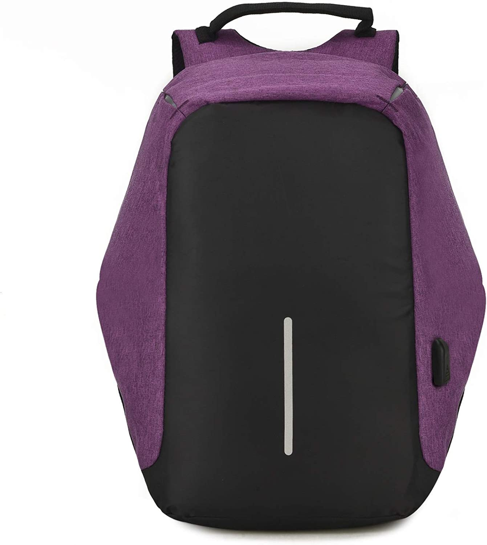 JESSIEKERVIN YY3 Reise-Laptop-Rucksack, Geschfts-Antidiebstahl-dünner dauerhafter Laptop-Rucksack mit USB-Ladehafen, Wasser-Bestendige College-Schule-Computer-Tasche für Frauen u. Mnner