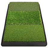 Champkey 17' 27' Premium Tri-Turf Golf Hitting Mat - Heavy Duty Rubber Base Practice Mat Portable Driving, Chipping, Training Aids Ideal for Indoor & Outdoor