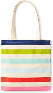 Canvas Book Tote with Interior Pocket,
