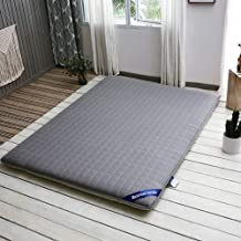 Sleeping Floor Mat, Breathable Futon Mattress Foldable Portable Tatami Mat for Single Double Mattress Camping,Gray,Twin:90...