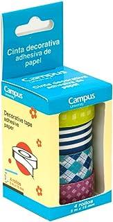 Makro Paper Cinta Adhesiva, 4 Unidades, diseños Surtidos