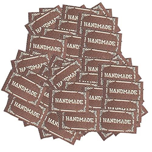 Onsinic 100 Piezas De Marcas De La Ropa Conocidos De Encargo De Los Trajes De Parche De La Etiqueta del Paño De DIY Corbata Tag Accesorios