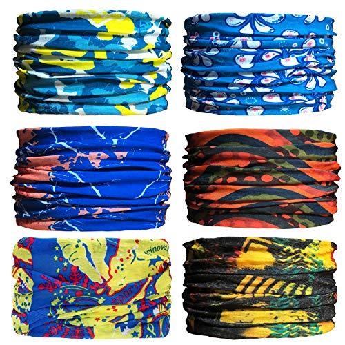 Sea Team 6 Stück/Packung gedruckt Bandanas Multifunktionstuch, 12 Arten Wahl Kopftuch, Stirnband, Motorrad Bandana, Kopftuch ect. (A-8)