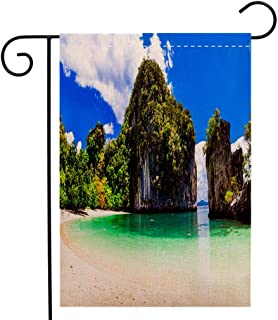 BEIVIVI Creative Home Garden Flag Amazing Beaches of Thailnad Krabi Province Garden Flag Waterproof for Party Holiday Home Garden Decor