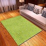 Dayoyo Große Rugs Teppiche Kleine Fläche Dicken Antifouling HD Anti Slip Flauschigen Teppich,L2879 grüner Buchstabe Waschbares Schlafzimmer Zusatz Hauptwohnzimmer der Retro modernen Art-160x230cm
