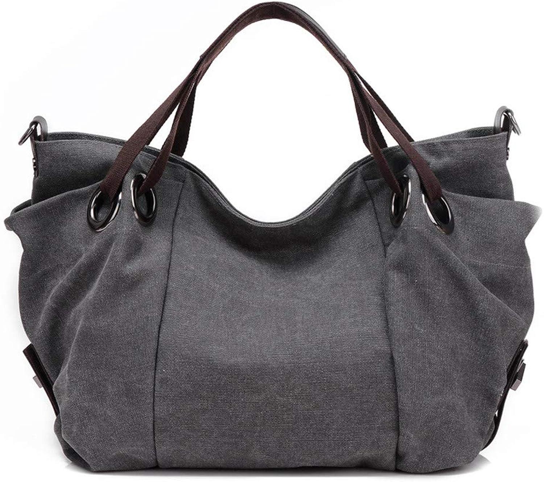 Umhängetasche der Frauen große Kapazität beiläufige Segeltuchhandtasche Leben-Wilde Kurierbeutel-Knödel-Paket B07PS7BN4T  Verhandlung