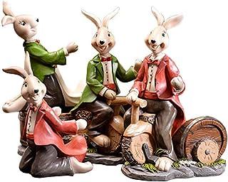 Logo TLF-FF Botellero Historieta del Conejo del Estante del Vino Creativo Europeo Inicio Crafts Restaurante gabinete del ...