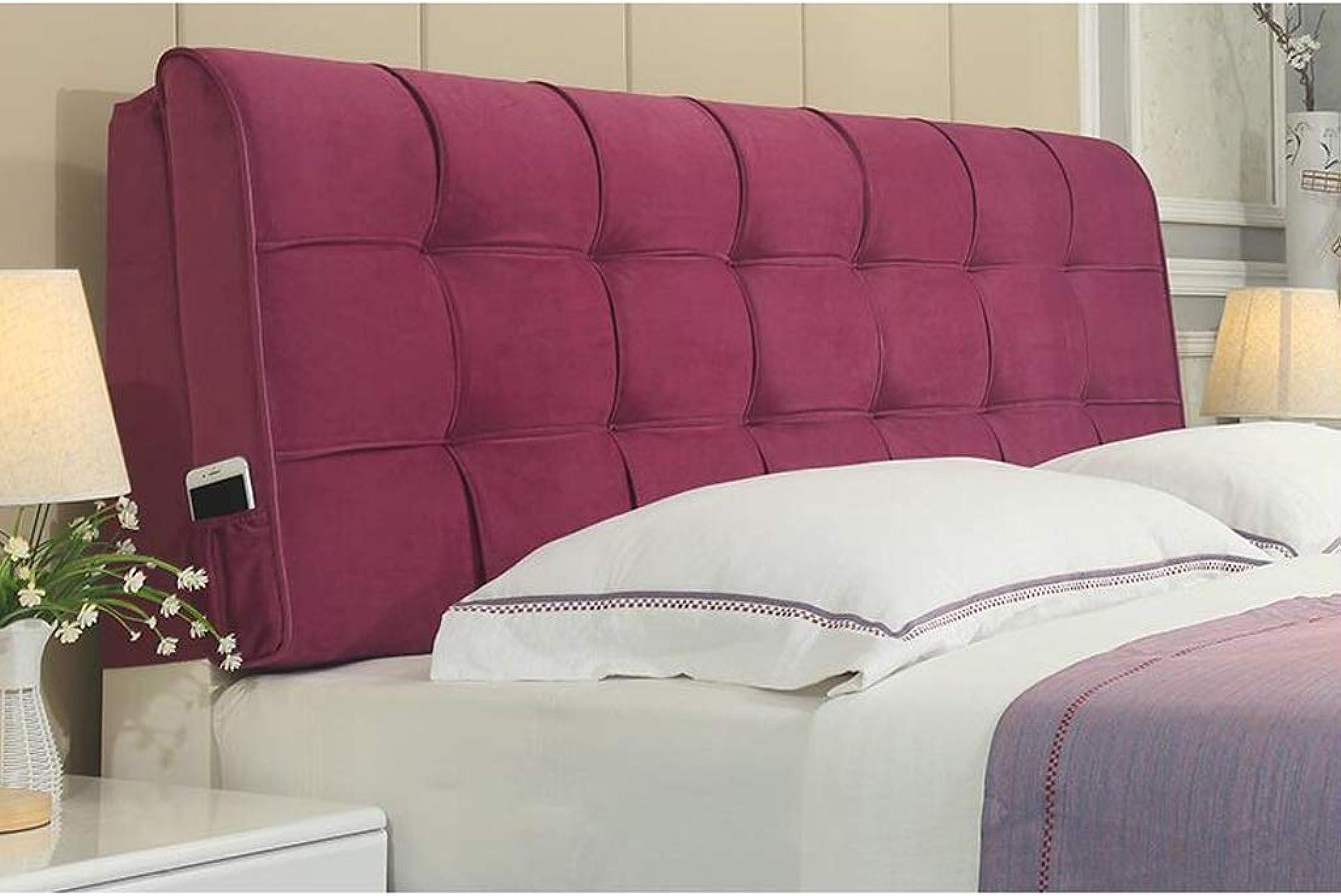 Coussin de tête de lit Lit en tissu Soft Pack Lit double Soft Pack Coussin de lit Grand dossier Oreiller (Couleur   A, Taille   150  58cm)
