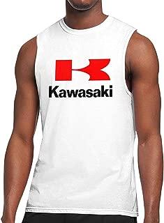 TIANXIN Design Kawasaki Motorcycles Logos Vector Breathable 100% Soft Cotton Sleeveless T Shirts for Mens O-Neck White