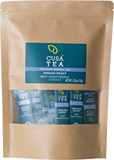 Cusa Tea: Immune Boost Herbal Tea - Immune Support Tea for Cold and Flu Relief - Refreshing Mint Tea Flavor - No Sugar or ...