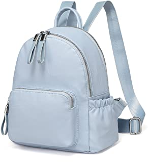 Mini Backpack Purse,Vaschy Faux Leather Small Backpack for Women (Sky Blue)