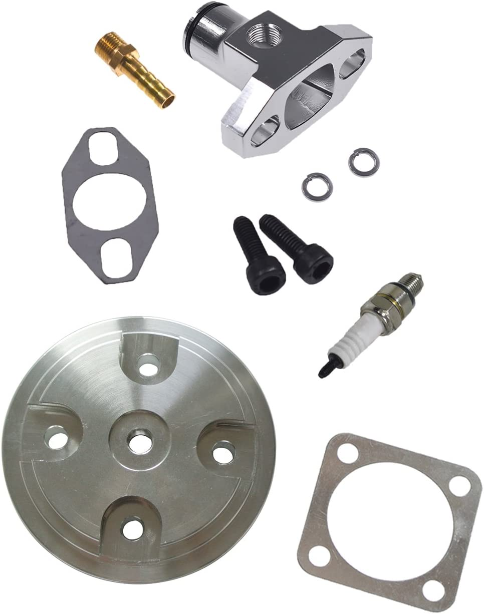 JRL CNC Silver Cylinder Head Fit Manifold Fixed price for sale CoverSilver 80c Inlet Ranking TOP6