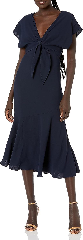 ML Monique Lhuillier Women's Crepe Cocktail Dress