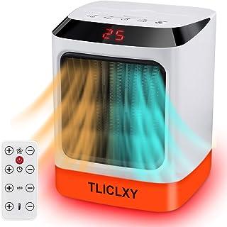 Calefactor baño bajo consumo con control remoto electrico calefactor de aire caliente con Temporizador Silencio resistente...