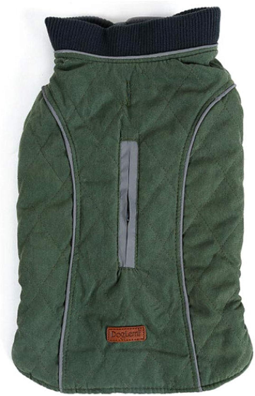 Huijunwenti Winter Dog Clothes, Pet Warm Jacket, Vest New, Big Dog Retro Thick Vest, Clothing Red XXXL Fashion (color   Pink, Size   M)