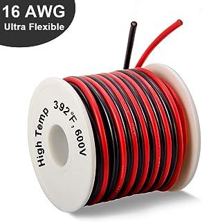 16 Gauge Silicone Wire Spool 50 Feet, Ultra Flexible High Temp 200 deg C 600V 16 AWG..
