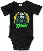 JohnBHaws Rob Zombie Comfort Round Neck Short Sleeve Baby Creeping Suit Black