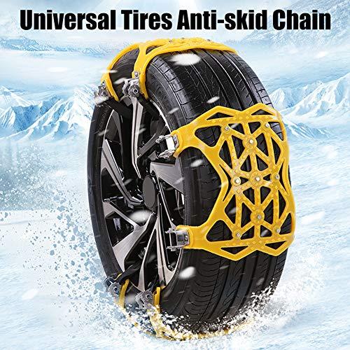 BONNIO 1 chaînes universelles de Neige antidérapantes pour pneus Chaînes de Neige faciles à Monter dans Une Voiture