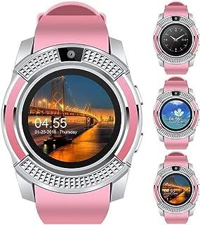 MiyaSudy V8 Bluetooth Smart Watch Touch Screen Wristband Fitness Tracker Wrist for iOS Men Women Kids Smart Watch Phone Fitness Tracker