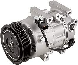 AC Compressor & 6-Groove 115mm A/C Clutch For Hyundai Sonata Kia Optima Replaces Halla VS16E - BuyAutoParts 60-03448NA NEW