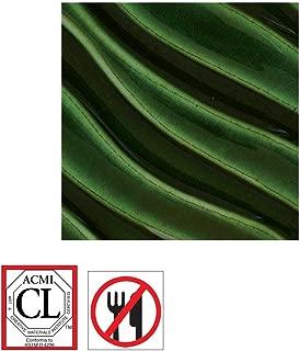 AMACO F Lead-Free Glaze, 1 pt Plastic Jar, Christmas Tree Green F-47