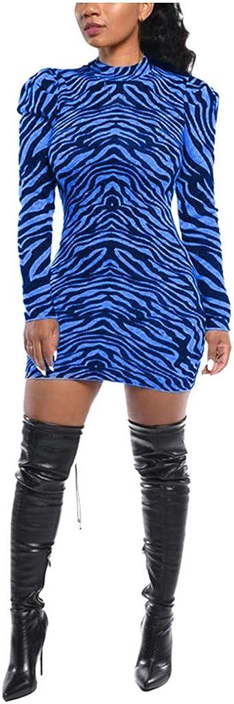 KINGOLDON Women Fashion Slim Solid Color Striped Turtleneck Irregular Long Sleeve Dress