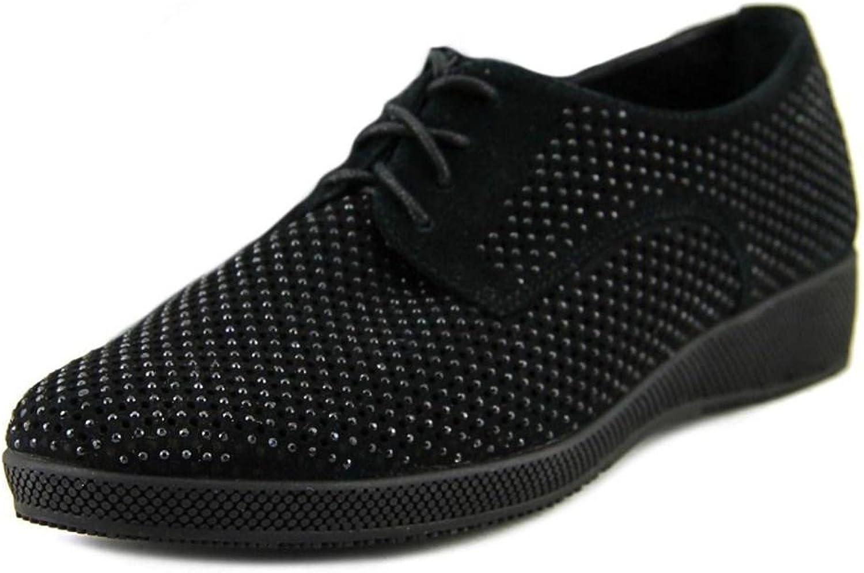 VANELi Womens Aleria Closed Toe Loafers, Black Suede, Size 8.0