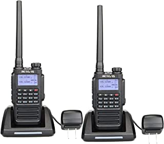 Retevis RT87 Waterproof Two Way Radio UHF/VHF 136-174/400-480MHz 5W 128 Channels Color LCD FM Ham Armature Radios (Black,2...