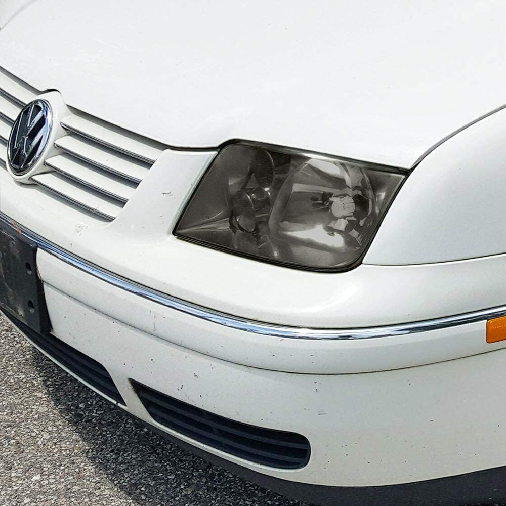 BRYGHT For 1999-2005 VW Jetta Bora Mk4 Headlight Assembly w//Fog Lamp OE Style Headlamps Replacement Smoke Lens