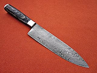 RA-1050 Custom made damascus Kitchen/Chef's knife,razor sharp