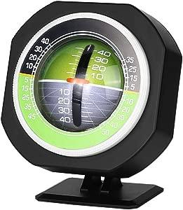 Tbest Car Inclinometer Level Car Compass Clinometer Indicator  Car Vehicle Inclinometer Stick Outdoor Luminous LED Car Angle Slope Meter Balancer Measure Equipment