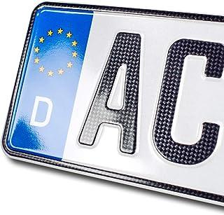 schildEVO 1 Carbon Kfz Kennzeichen | 360 x 110 mm | OFFIZIELL amtliche Nummernschilder | DIN Zertifiziert – EU Wunschkennzeichen mit individueller Prägung | Autokennzeichen