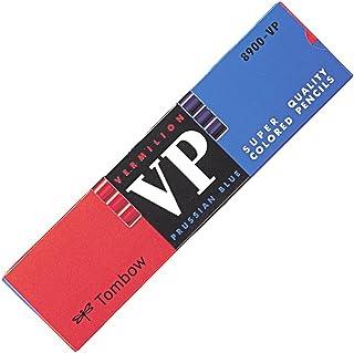 トンボ鉛筆 赤青鉛筆 8900VP 丸軸 朱藍 1ダース 8900-VP