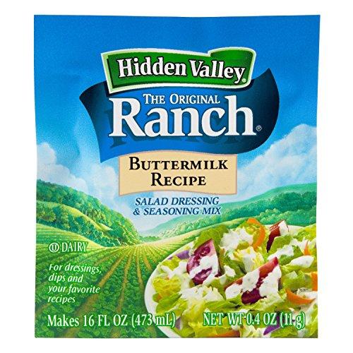 Hidden Valley Buttermilk Ranch Salad Dressing & Seasoning Mix, Gluten Free - Pack of 24